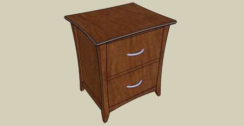 Modern Nightstand Woodworking Plans